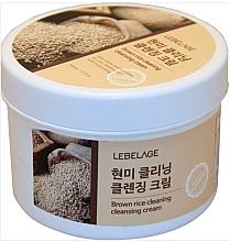 Parfums et Produits cosmétiques Crème nettoyante à l'extrait de riz pour visage - Lebelage Brown Rice Cleaning Cleansing Cream
