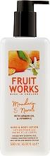 Parfums et Produits cosmétiques Lotion à l'huile d'argan pour mains et corps - Grace Cole Fruit Works Hand & Body Lotion Mandarin & Neroli