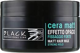 Parfums et Produits cosmétiques Cire coiffante matifiante tenue forte - Black Professional Line Cera Matt Effetto Opaco