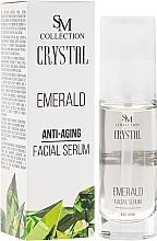Parfums et Produits cosmétiques Sérum anti-âge à la poudre d'émeraude pour visage - SM Collection Crystal