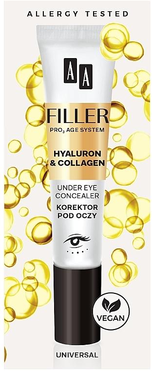 Correcteur à l'hyaluron et collagène pour contour des yeux - AA Filler Under Eye Concealer
