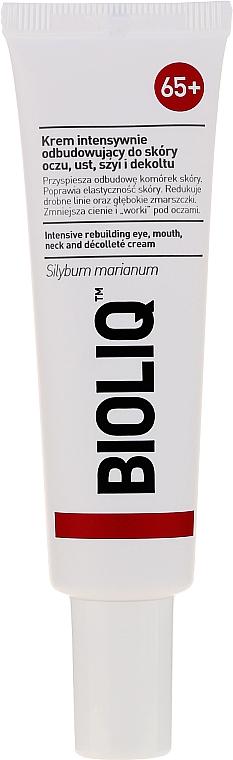 Crème pour contour des yeux, lèvres, cou et décolleté - Bioliq 65+ Intensive Rebuilding Eye, Mouth, Neck And Decollete Cream