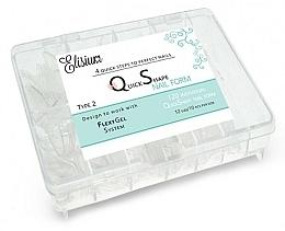 Parfums et Produits cosmétiques Extensions d'ongles réutilisables, type 2 - Elisium Quick Shape Nail Form Typ 2