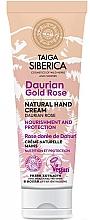 Parfums et Produits cosmétiques Crème pour mains Rose dorée de Dahuri - Natura Siberica Doctor Taiga Hand Cream