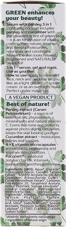 Sérum-gel-masque à l'extrait de persil pour visage et cou - Floslek Green For Skin Serum — Photo N3