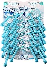 Parfums et Produits cosmétiques Lot de 24 rasoirs jetables - Gillette Simly Venus 2 Satin Care