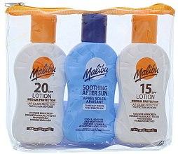 Parfums et Produits cosmétiques Malibu - Set soin solaire (lotion solaire 2x100ml + lotion après-soleil/100ml)