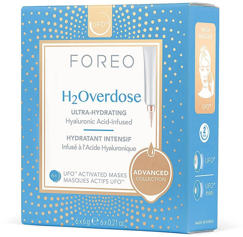 Masque à l'acide hyaluronique pour visage - Foreo Ufo H2Overdose Mask