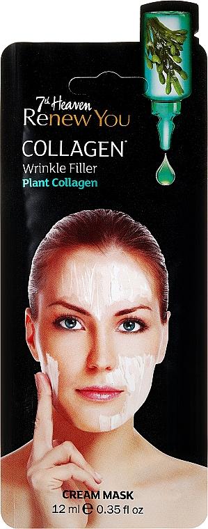 Crème-masque au collagène végétal pour visage - 7th Heaven Renew You Collagen Cream Mask — Photo N1