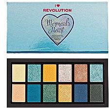Parfums et Produits cosmétiques Palette de fards à paupières avec fermeture magnétique - Makeup Revolution Mermaid's Heart Eyeshadow Palette
