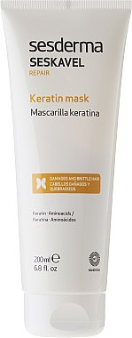 Masque revitalisant à la kératine pour les cheveux - SesDerma Laboratories Seskavel Repair Keratin Mask — Photo N2