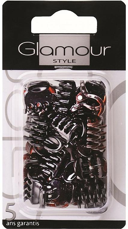 Pinces à cheveux 0224, marron - Glamour