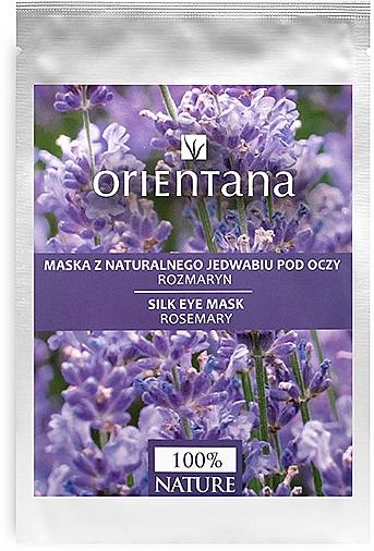 Masque tissu en soie naturelle au romarin pour contour des yeux - Orientana Eye Silk Pad Rosemary