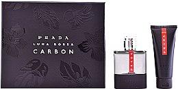 Parfums et Produits cosmétiques Prada Luna Rossa Carbon - Coffret (eau de toilette/100ml + baume après-rasage/100ml)