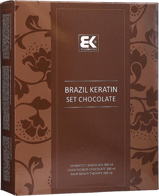 Brazil Keratin Intensive Repair Chocolate - Set (shampooing/300ml + après-shampooing/300ml + sérum/100ml)