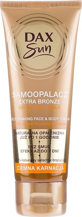 Autonronzant pour peaux foncées - DAX Sun Extra Bronze Dark Skin Self-Tanning Cream