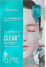 Parfums et Produits cosmétiques Masque tissu en 2 étapes à l'acide hyaluronique pour visage - Mediheal Capsule 100 Bio Seconderm Clear Alpha 2 Step Face Mask
