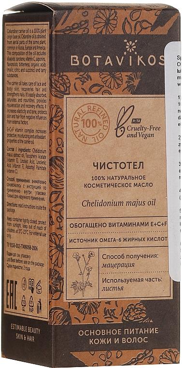 Huile à l'huile de chélidoine - Botavikos Natural Chelidonium Majus Oil