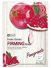 Parfums et Produits cosmétiques Masque tissu à l'extrait de grenade pour visage - SNP Fruits Gelato Firming Mask