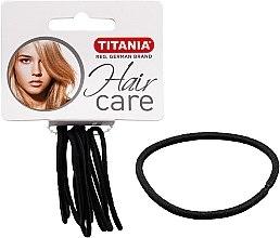 Parfums et Produits cosmétiques Élastiques à cheveux, 9 pcs, noir, 2 mm - Titania