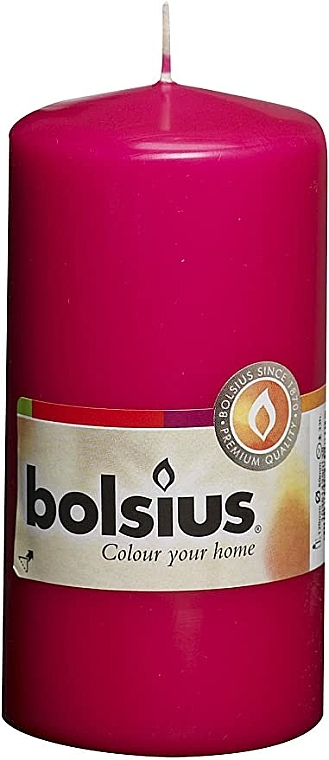 Bougie cylindrique, fushsia, 120/58 mm - Bolsius Candle — Photo N1