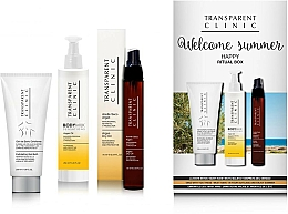 "Parfums et Produits cosmétiques Coffret cadeau - Transparent Clinic ""Welcome Summer"" (oil/spray/75ml + eye/cream/18ml + b/scrub/200ml)"