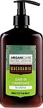 Parfums et Produits cosmétiques Après-shampooing aux huiles bio d'argan et macadamia sans rinçage - Arganicare Macadamia Leave-In Conditioner