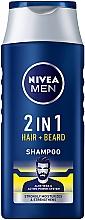 Parfums et Produits cosmétiques Shampooing à l'aloe vera pour cheveux et barbe - NIVEA Men 2 in 1 Protect & Care Shampoo