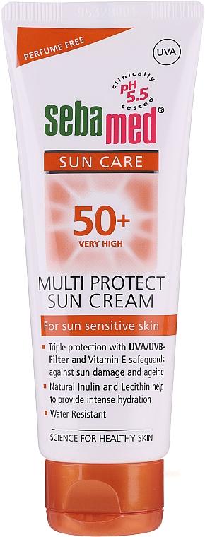 Crème solaire hypoallergénique pour corps - Sebamed Multi Protect Sun Cream SPF 50 — Photo N1