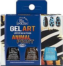 Parfums et Produits cosmétiques Kit vernis gel pour décoration d'ongles - IBD Just Gel Polish Animal Print Gel Art (3 x 7,4ml)