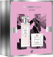 Parfums et Produits cosmétiques Allvernum Cherry Blossom & Musk - Set (eau de parfum/50ml + bougie parfumée/100g)