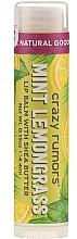 Parfums et Produits cosmétiques Baume à lèvres Menthe poivrée et citronnelle - Crazy Rumors Peppermint Lemongrass Lip Balm