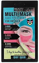 Parfums et Produits cosmétiques Traitement en masque 3 étapes pour visage - Beauty Formulas 3-Step Multi-Mask Face Treatment For Dry Skin