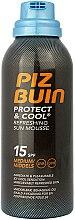 Parfums et Produits cosmétiques Mousse solaire rafraîchissante SPF 15 - Piz Buin Protect & Cool Refreshing Sun Mousse SPF15