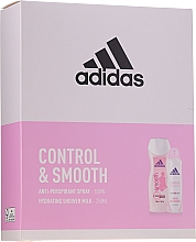 Parfums et Produits cosmétiques Coffret cadeau - Adidas Control & Smooth (deo/spray/150ml + sh/milk/250ml)