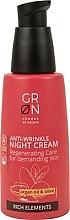 Parfums et Produits cosmétiques Crème de nuit à l'huile d'argan et d'olive - GRN Rich Elements Argan Oil & Olive Night Cream