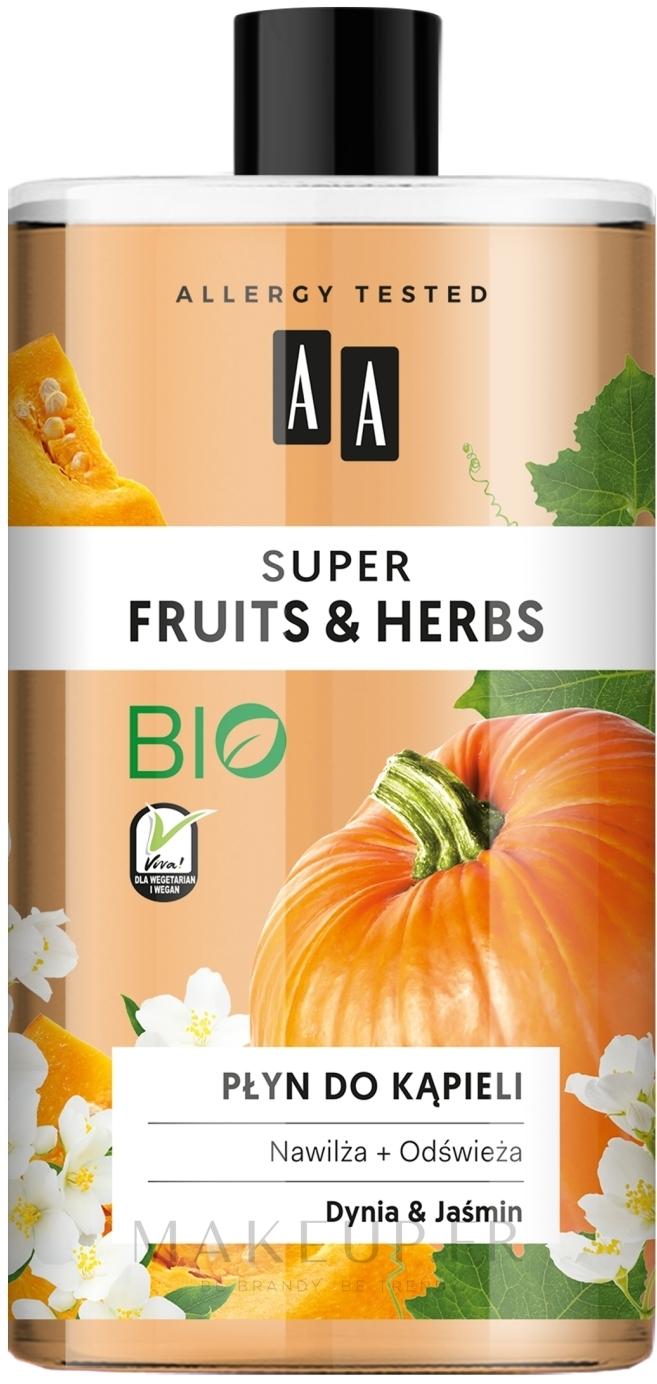 Mousse de bain, Citrouille et Jasmin - AA Super Fruits & Herbs — Photo 750 ml