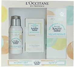 Parfums et Produits cosmétiques L'Occitane Karite Bebe - Coffret (eau parfumée/50ml + crème lavante corps/75ml + lait corps/100ml)