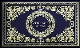 Parfums et Produits cosmétiques Versace Dylan Blue Pour Homme - Coffret (trousse de toilette + eau de toilette/100ml + eau de toilette/10ml)