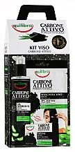 Parfums et Produits cosmétiques Coffret visage avec charbon actif - Equilibra Active Charcoal (gel nettoyant/200ml + masque/1 unité + savon/100g)