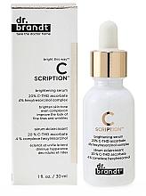 Parfums et Produits cosmétiques Sérum éclaircissant avec 20% C-THD ascorbate pour visage - Dr. Brandt Bright This Way C Scription Brightening Serum