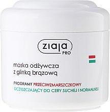 Parfums et Produits cosmétiques Masque à l'argile brune pour visage - Ziaja Pro Nutrition Mask with Brown Clay