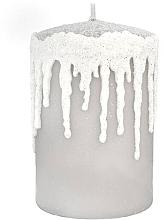 Parfums et Produits cosmétiques Bougie décorative, Glaçons pointus, gris, 7x10cm - Artman