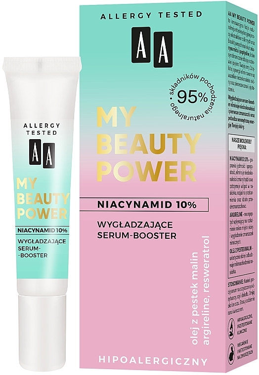 Sérum-booster à la niacinamide pour visage - AA My Beauty Power Niacinamide 10% Smoothing Serum-Booster