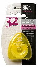 Parfums et Produits cosmétiques Fil dentaire, 32 Pearls PRO, étui jaune - Modum 32 Pearls Dental Floss