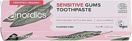 Parfums et Produits cosmétiques Dentifrice à l'huile de menthe poivrée pour gencives sensibles - Nordics Sensitive Gums Toothpaste