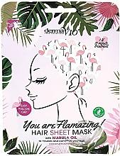Parfums et Produits cosmétiques Masque à l'huile de marula pour cheveux - Derma V10 Flamingo Print Hair Mask With Marula Oil
