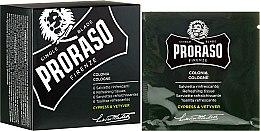 Parfums et Produits cosmétiques Serviettes rafraîchissantes visage et barbe - Proraso Cypress & Vetyver Refreshing Tissues