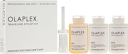 Kit de soins capillaires - Olaplex Traveling Stylist Kit (con 100 ml + 2 x elixir 100 ml)