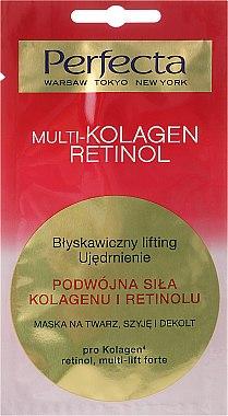 Masque au collagène et rétinol pour visage, cou et décolleté - Perfecta Multi-Kolagen Retinol